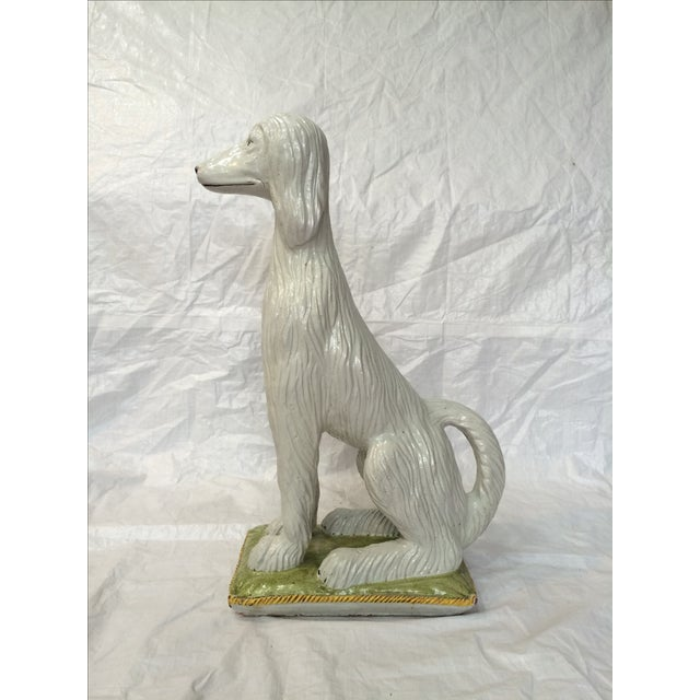 Italian Italian Ceramic Afghan Hound Statue For Sale - Image 3 of 11