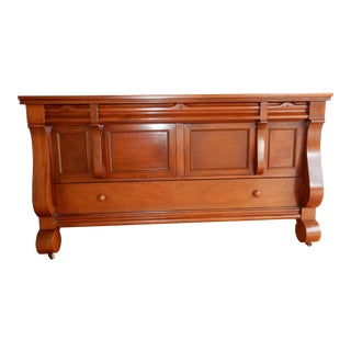 Antique Empire Solid Mahogany Side Board/ Buffet 72 Inches For Sale