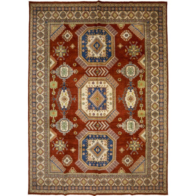 New Kazak Hand Knotted Area Rug - 11' x 15' - Image 1 of 3