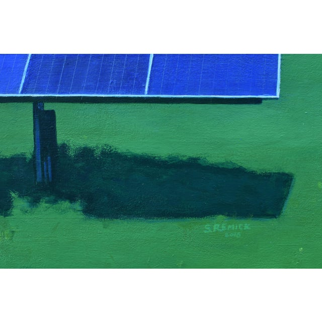 """2010s Contemporary Painting, """"Solar Panel in a Field"""" by Stephen Remick For Sale In Providence - Image 6 of 12"""