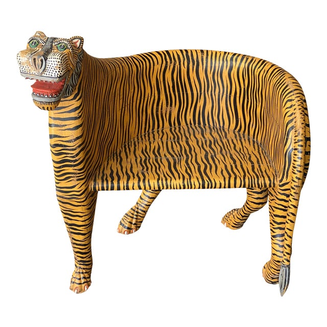 1970's Vintage Tiger Tub Chair For Sale