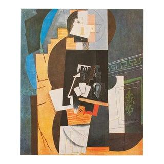 "Pablo Picasso, Period ""Card Player"" Parisian Photogravure, 1971 For Sale"