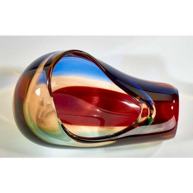 Mid-Century Modern Vintage Multi-Colored Murano Glass Bowl For Sale - Image 3 of 13