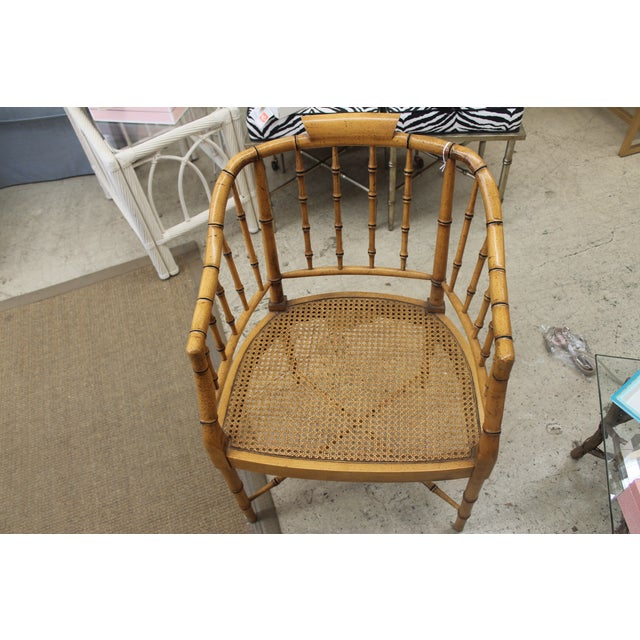 Rattan Desk and Bamboo Chair Set - Image 5 of 5