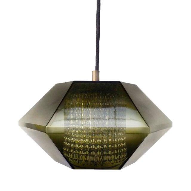 Mid-Century Modern Mid-Century Modern Lyfa Denmark Smagad Glass Within Glass Pendant For Sale - Image 3 of 3