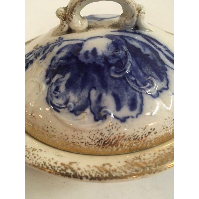 Blue Ironstone Soap Dish - Image 4 of 7