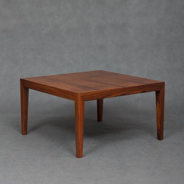 Rosewood 1960s Severin Hansen Square Rosewood Coffee Table For Sale - Image 7 of 7