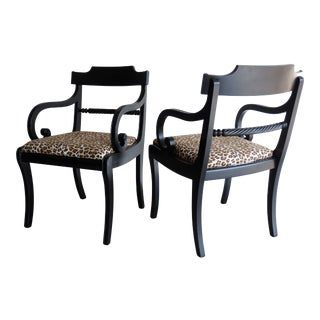 Hollywood Regency Klismos Chairs, A Pair