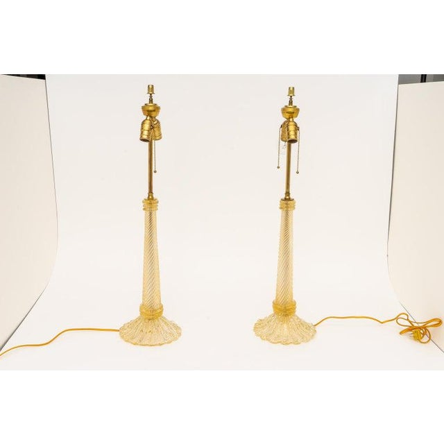 Barovier & Toso Table Lamps, Circa 1930s - a Pair For Sale In West Palm - Image 6 of 11