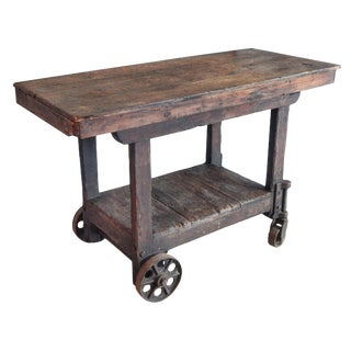 Industrial Trolly Work Table/Cart For Sale