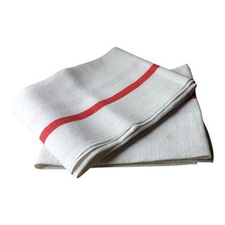 1920s French Kitchen Towels - a Pair For Sale