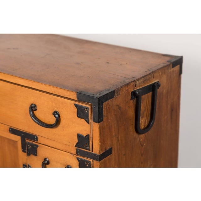 Brown Antique Japanese Merchant's Chest For Sale - Image 8 of 10