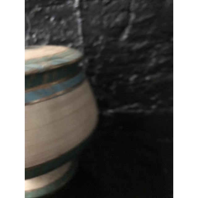 Mid Century Bitossi Seta Collection Italian Sgraffito Pottery Container Jar by Aldo Londi For Sale In Chicago - Image 6 of 8