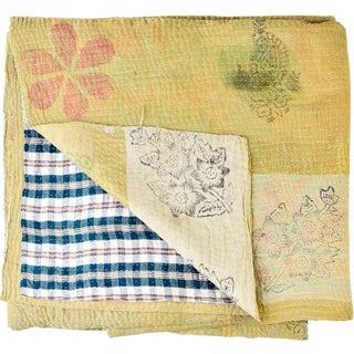 Kantha Blanket For Sale
