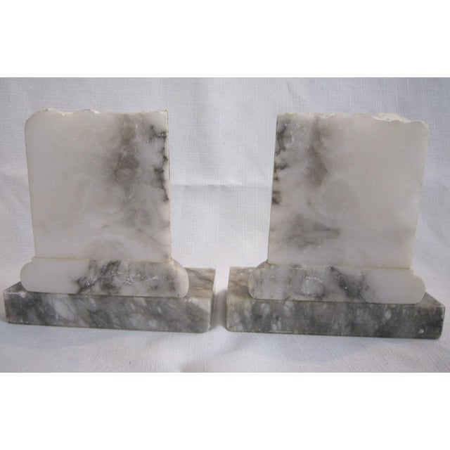 Neoclassical Marble Bookends - Pair - Image 4 of 5