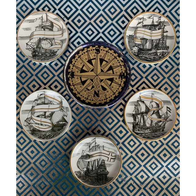 Fornasetti Vintage Cocktail Coasters - Set of 5 For Sale - Image 13 of 13