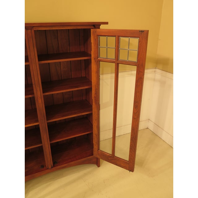 Brown 1980s Arts & Crafts Stickley Cherry Bookcase For Sale - Image 8 of 13