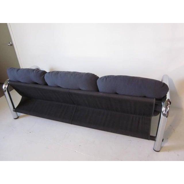 John Mascheroni John Mascheroni Tubular Chrome Sling Sofa For Sale - Image 4 of 7