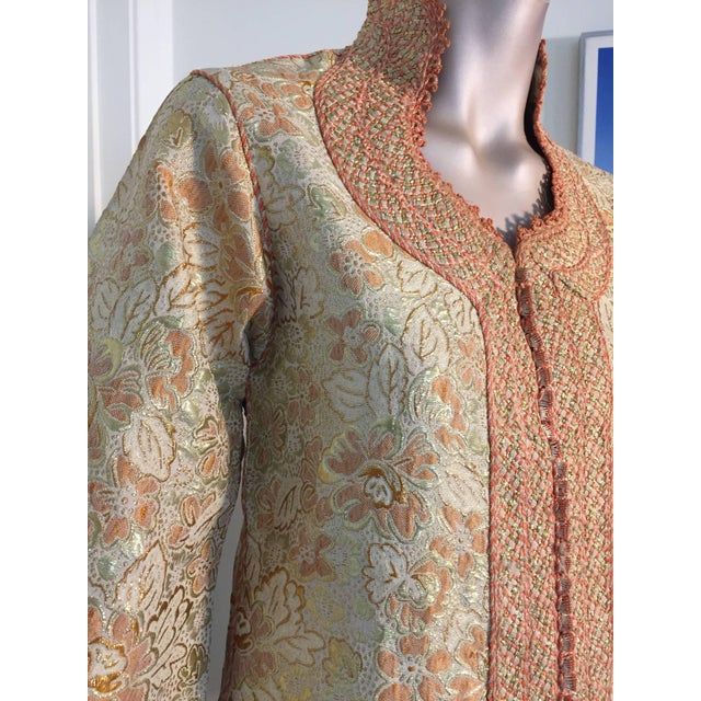 1970s Moroccan Caftan Gold Brocade Maxi Dress Kaftan For Sale In Los Angeles - Image 6 of 10