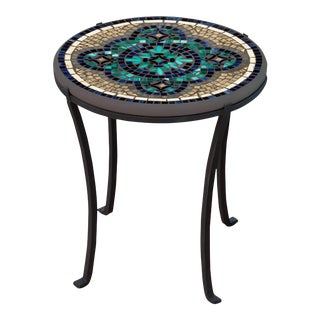 """Sardinia 18"""" Chaise Table with Black Iron Base For Sale"""