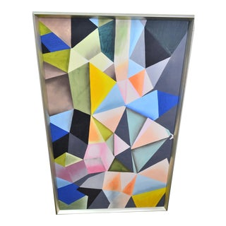 Abstract Bungalow 5 Hearst Silk Painting, Framed For Sale