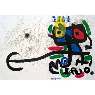 Joan Miro, Derriere Le Miroir, No. 186, Lithograph, 1970 For Sale