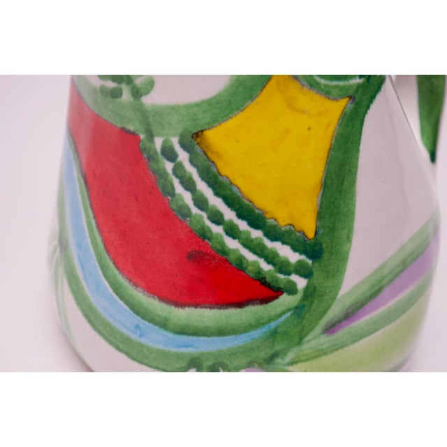 "Ceramic Hand Painted Italian Ceramic ""Bird"" Pitcher / Wine Decanter by Desimone For Sale - Image 7 of 13"