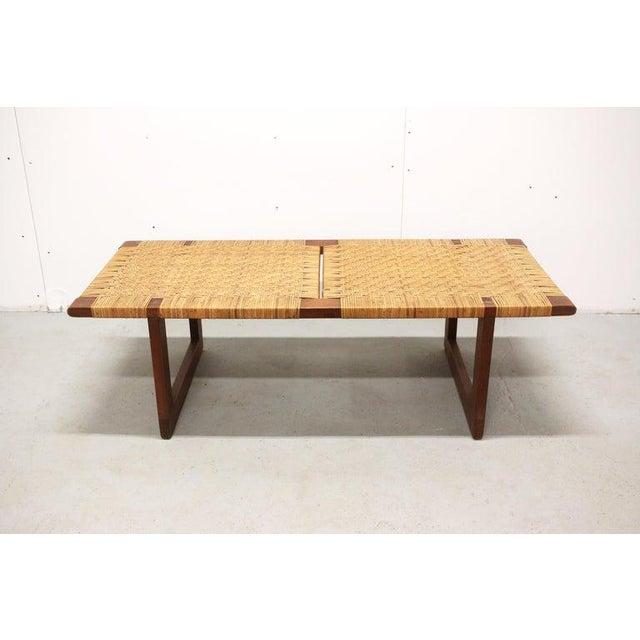 1950s Rare Borge Mogensen Bench, Made by Erhard Rasmussen, Denmark, 1950s For Sale - Image 5 of 13
