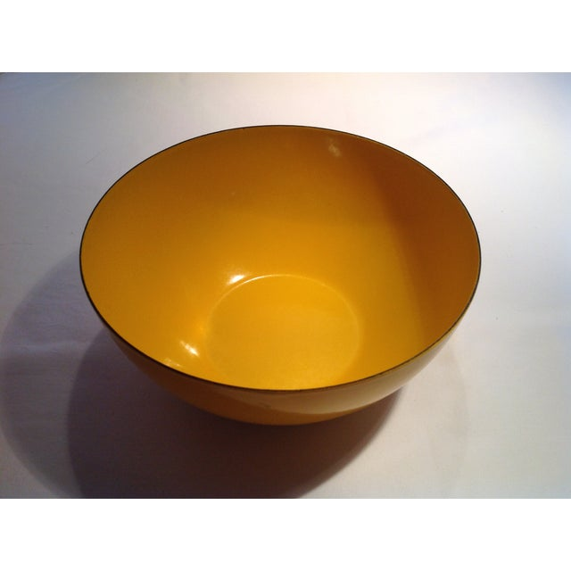 Metal Rare Catherineholm Yellow & Blue Bowls - a Pair For Sale - Image 7 of 8