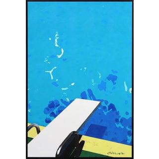 """Deciding to Take a Dive"" Framed Original Artwork by Michael Giliberti For Sale"