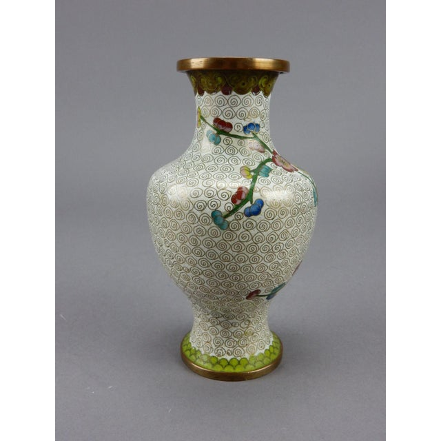 Antique Chinese Cloisonne Vase For Sale - Image 5 of 11