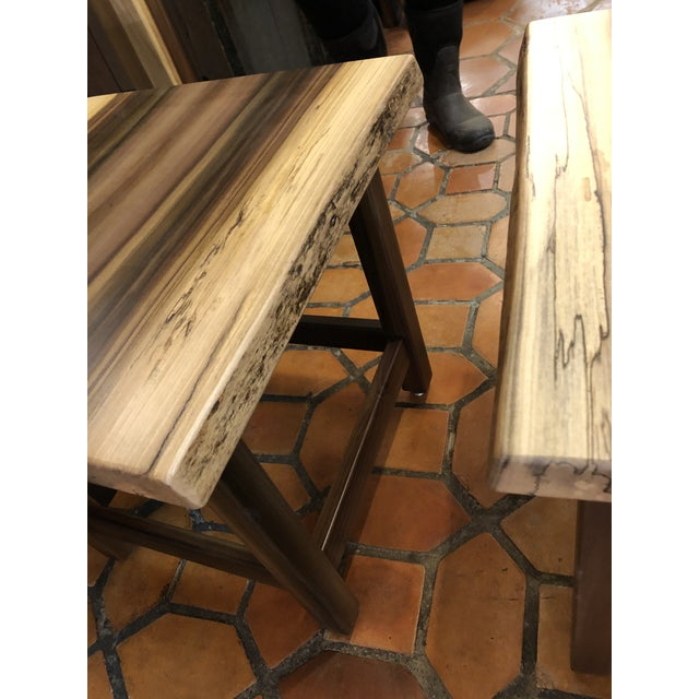 Artisan Made Amish Custom Poplar End Tables -A Pair For Sale - Image 9 of 11