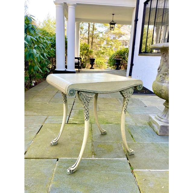 English Scroll Table With Faux Painted Detail For Sale - Image 9 of 11
