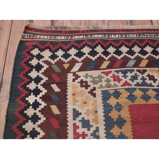Textile Antique Qashqai Kilim For Sale - Image 7 of 7
