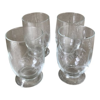 Noritake Sasaki Wheat Etched Crystal Juice Glass - Set of 4 For Sale