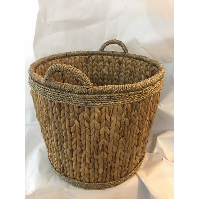 Woven Hyacinth Storage Basket - Image 2 of 4