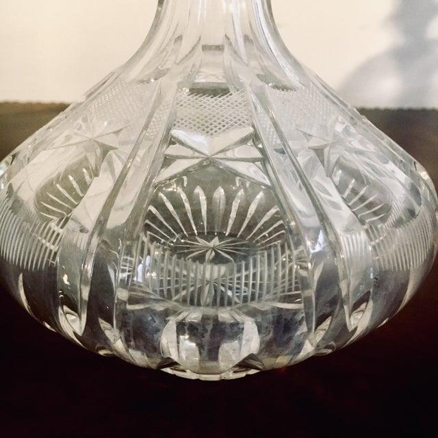 American American Brilliant Period Cut Glass Decanter + Stopper For Sale - Image 3 of 6