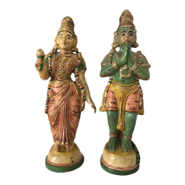 Terra Cotta Indian Figurines - A Pair - Image 1 of 7