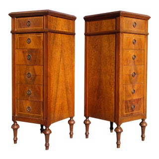 Vintage Pair Grand Rapids French Louis XVI Style Lingerie Chests Chiffoniers For Sale