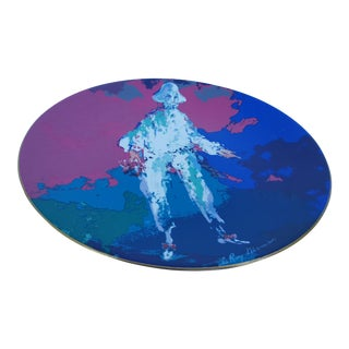 1975 Leroy Neiman -Pierrot- Colorful Decorative Ceramic Plate For Sale