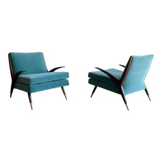 Karpen of California Modernist Lounge Chairs For Sale