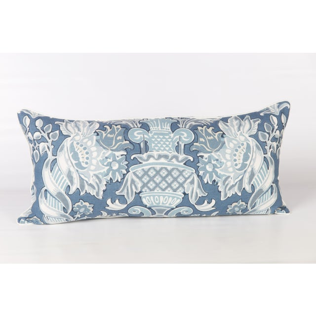 Windsor Linen Brocade Lumbar Pillow - Image 5 of 5