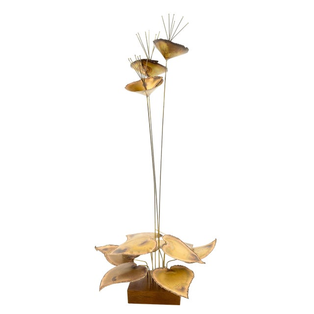 Curtis Jere Mid-Century Brass Sculpture For Sale