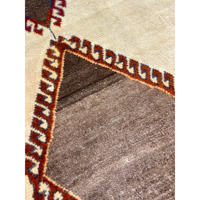 1960s Vintage Persian Gabbeh Rug - 4′2″ × 6′4″ For Sale - Image 9 of 13