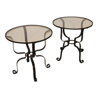 Vintage Garden Tables - a Pair For Sale