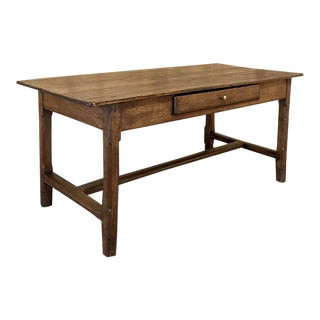 19th Century Rustic Country French Desk For Sale
