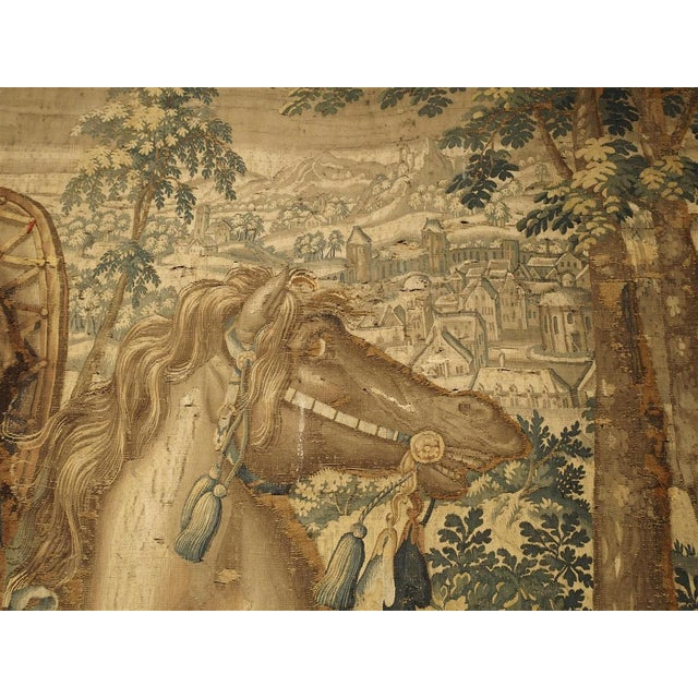 Large 17th Century Flanders Tapestry Depicting a Roman Scene For Sale - Image 10 of 13