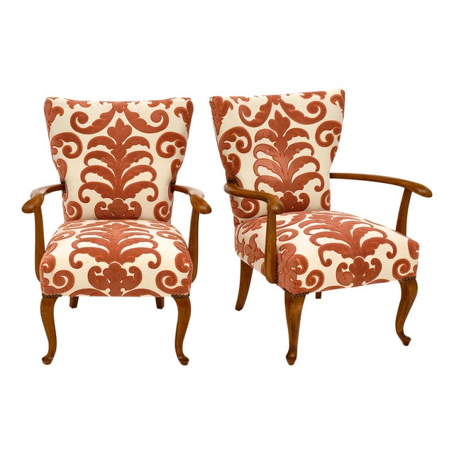 Mid-Century French Vintage Armchairs For Sale - Image 10 of 10