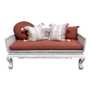 Monumental Wooden Daybed Bench Sofa For Sale