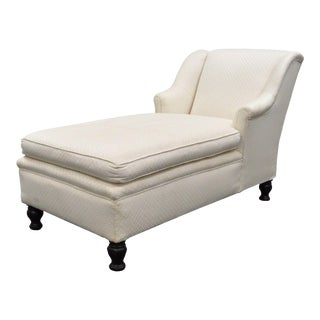 Antique French Empire Style Chaise Lounge Fainting Couch Sofa Bun Feet Recamier For Sale
